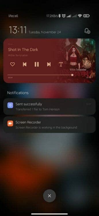 miui 12.5 notification design