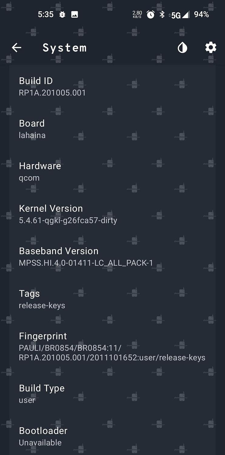 OnePlus 9 PhoneArena specs5