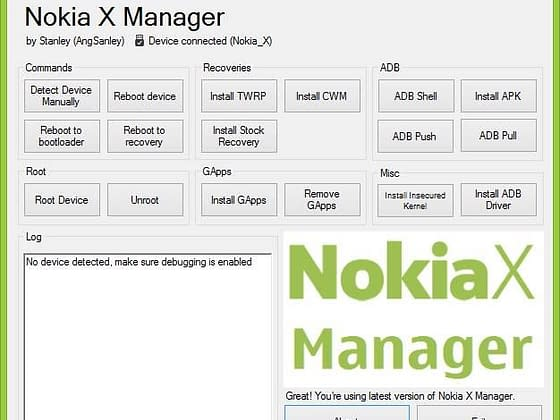 nokia x manager